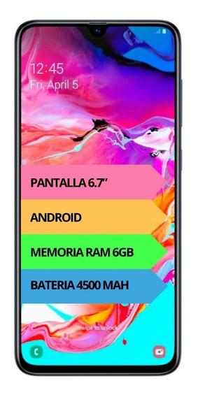 Celular Samsung Galaxy A70 128gb 6gb 32mpx Gtia Oficial 12c