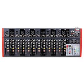Mesa Mixer 16 Canais Novik Nvk 1602 Btv 220v Com 99 Efeitos.
