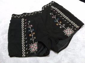 Shorts Cintura Alta Bordada - Memove - Tam 40