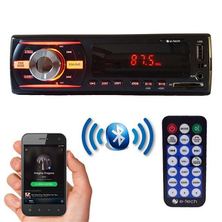 Mp3 Player 1 Din Automotivo Bluetooth E Tech Usb 4x40w Som