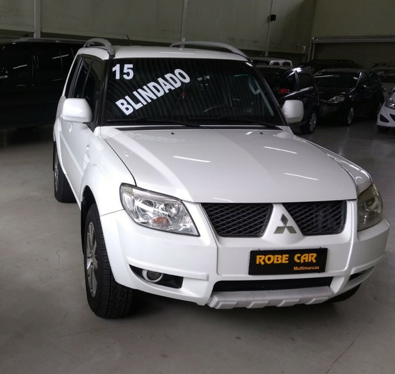 Mitsubishi Pajero Tr4 Branca 2.0 Flex 16v 4x4 Aut. Blindada