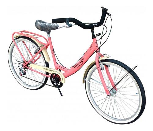 Bicicleta ExoBikes Vintage R26 frenos v-brakes color rosa
