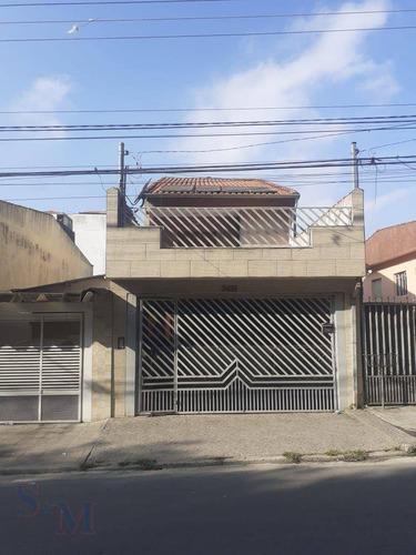 Imagem 1 de 28 de Sobrado Com 3 Dormitórios À Venda, 201 M² Por R$ 545.000,00 - Vila Linda - Santo André/sp - So0487