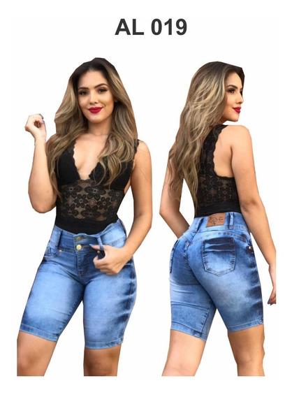 Kit 3 Shorts Jeans Feminino Ate O Joelho - Promoção