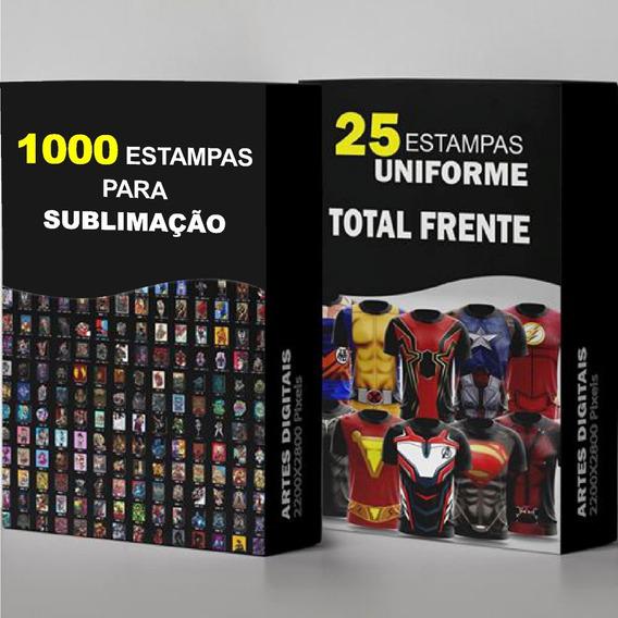 25 Uniformes Heróis 1.000 Estampas Para Sublimação Total