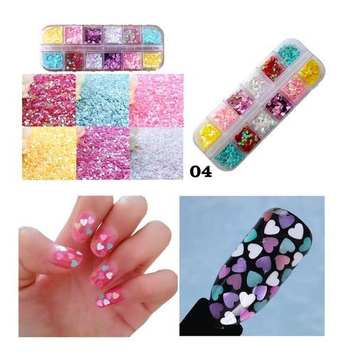 Kit Glitter Decoración Uñas Nail Art Manicura Diseños Diy