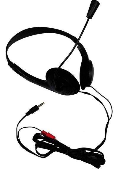 Headset X-cell Preto Estereo P2