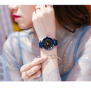 Relógio Feminino Thefea Brilha No Escuro Pulseira Magnética