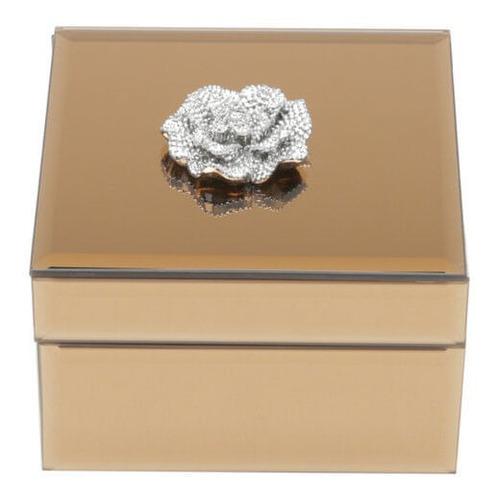 Porta-joias De Madeira Com Espelho Prestige Maira 21x13x8,5c