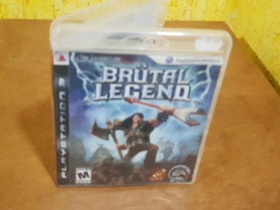 Brutal Legend Usado Manuais Ps3 Mídia Física