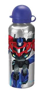 Garrafa Squeeze De Aluminio Ifantil Transformers 500 Ml