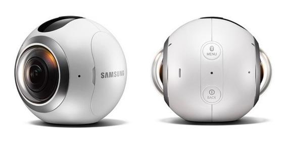 Camera Filmadora Samsung Gear 360º 25.9 Mp Com Wifi