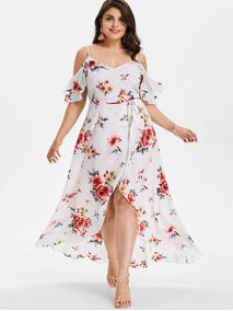 Vestido Casual Estampado Floral Sexy De Tamaño Extra L-5xl