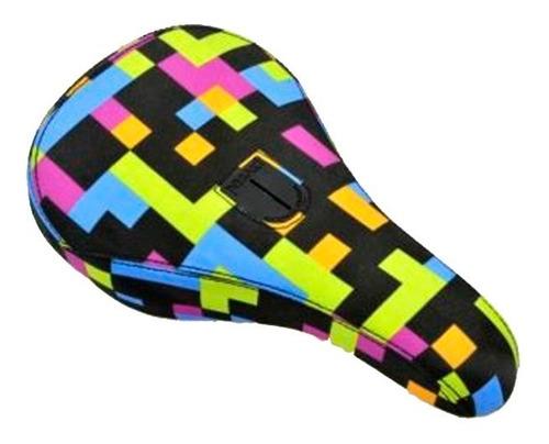 Asiento Bmx Velo Pivotal 7046 - Negro Multicolor
