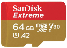 Sandisk Micro Sdxc Extreme 160mb/s 64gb 100% Original U3 4k