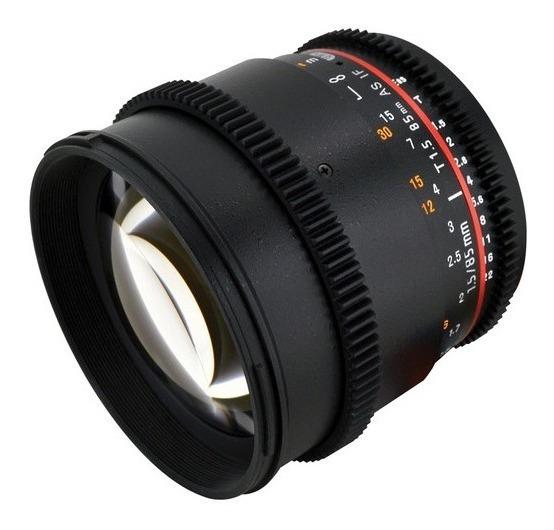 Lente Rokinon 85mm T1.5 Cine Para Canon Ef Melhor Preço