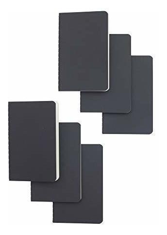Set De Cuaderno De Bolsillo Negro Cubierta