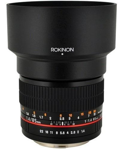 Lente Rokinon 85mm 1.4 Canon