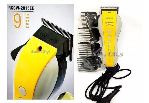 Maquina Cortar Cabelo Barba Aparador Profissional 110v Rscw