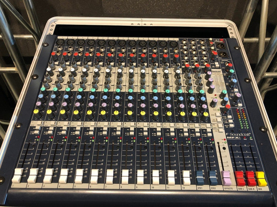 Mixer Soundcraft Mfxi-12 - Com Efeitos Lexicon - 16 Canais