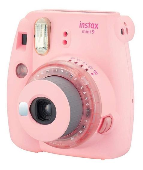 Kit Câmera Instax Mini 9 Rosa Chiclé Bolsa 10 Filmes Nf