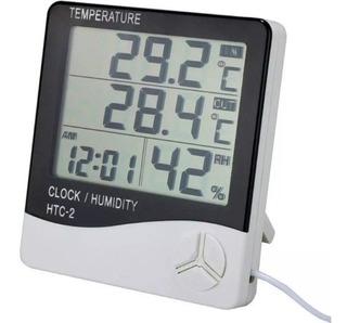 Termómetro Higrómetro Digital Con Sonda Htc-2