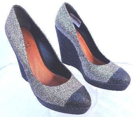 Zapatos Schutz C/plataformas Glitters Nº 37 O.mar2011