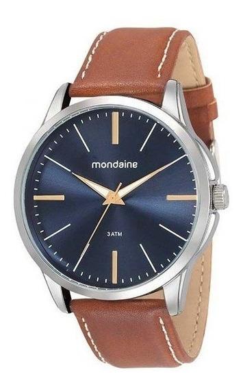 Relógio Mondaine Masculino Prata/marrom 76706g0mvnh3