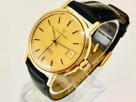 Relógio De Pulso Suíço Omega Constellation Ouro 18k Cal 1012