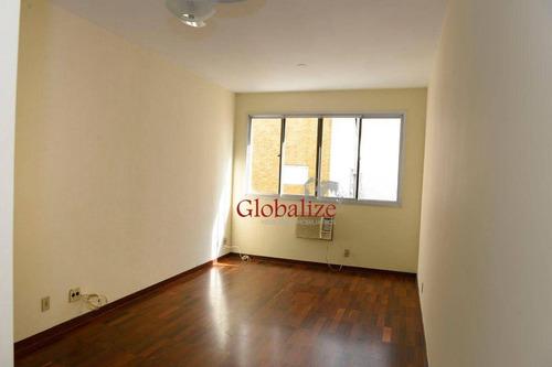 Apartamento Com 1 Dormitório À Venda, 61 M² Por R$ 419.000,00 - Boqueirão - Santos/sp - Ap0573