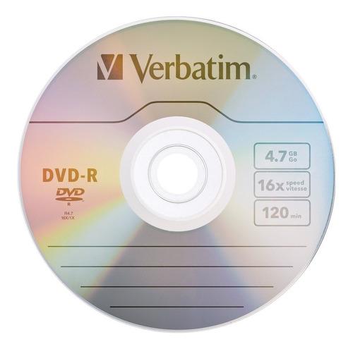 Imagen 1 de 1 de Dvd Verbatim Dvd-r Por 1 Unidad 4.7 Gb 16x Ade Ramos Mejia