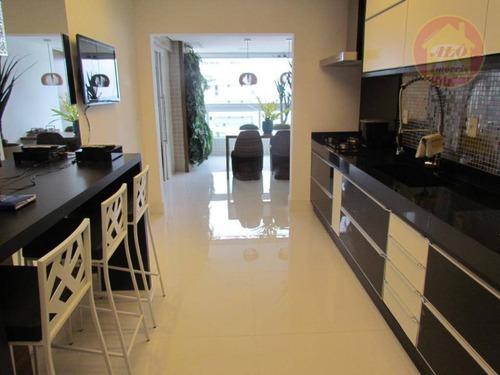 Apartamento Com 3 Dormitórios À Venda, 149 M² Por R$ 1.290.000 - Canto Do Forte - Praia Grande/sp - Ap5549