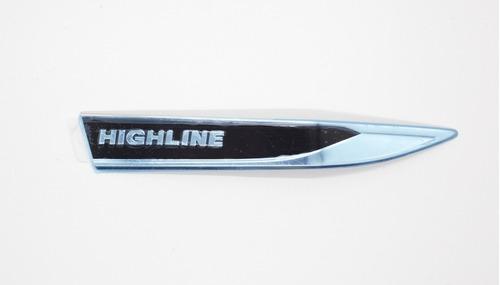 Imagen 1 de 3 de Emblema Highline  Vw Virtus, Polo Lateral Derecho - Original