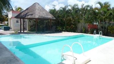 (crm-634-506) Se Renta Casa En Cancun Amueblada 3 Recamaras Jardines De Bonampak