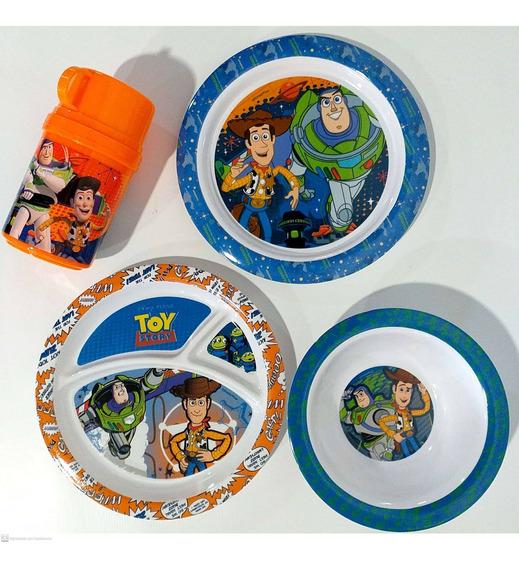 Kit Para Refeição Infantil Melamina 4 Peças Toy Story Gedex