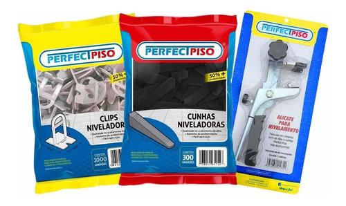 Kit C/ 01 Alicate + 800 Clips Espaçadores + 300 Cunhas