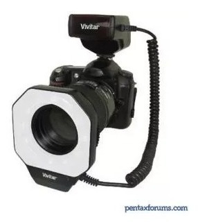 Macro Ring Flash Digital Vivitar Dr 5000 - Novo