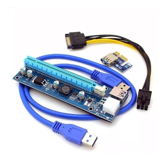 Cabo Riser Pci-e Card V007 Usb 3.0 Pci-e Mineração Ethereum