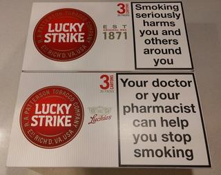 Cartones Lucky Strike Red Rojo - Envío Grátis