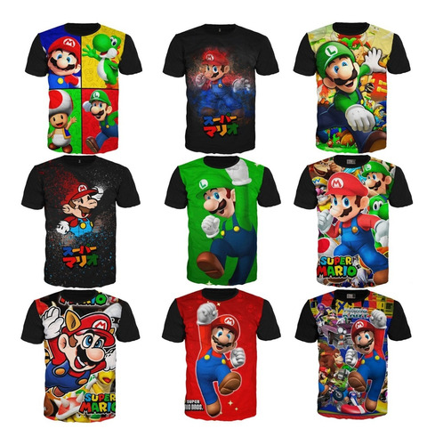 Camisetas Super Mario Bros Nintendo Algodón Exclusivas