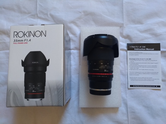 Lente Rokinon 35mm F.1/4 Manual Para Sony E