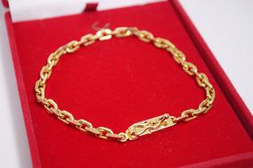 Pulseira Cartier 23 Cm 5 Mm Banhada A Ouro 18k