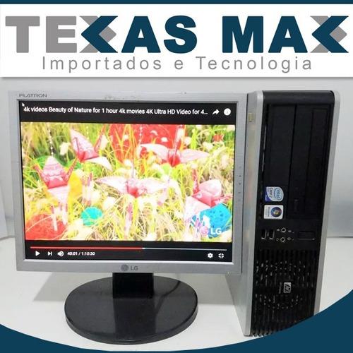 Imagem 1 de 4 de Computador Hp Core 2 Duo + Monitor 15+ Mouse + Teclado