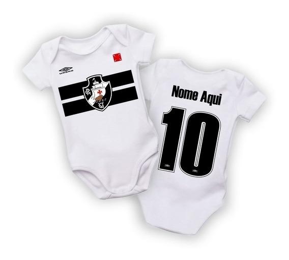 Roupa De Bebe Body Vasco Da Gama Personalizado Nome E Número