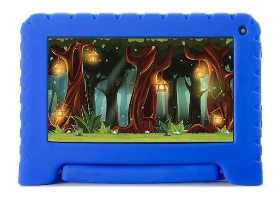 "Tablet com capa Multilaser Kid Pad Lite NB30 7"" 16GB azul com memória RAM 1GB"