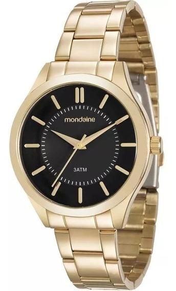 Relógio Feminino Dourado Mondaine Original Garantia Barato
