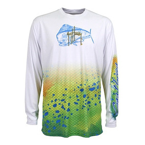 Mh62534-wht Playera Absorbente Protecc. Solar Bco Guy Harvey