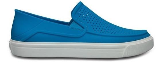 Zapato Crocs Dama Citilane Roka Azul Eléctrico