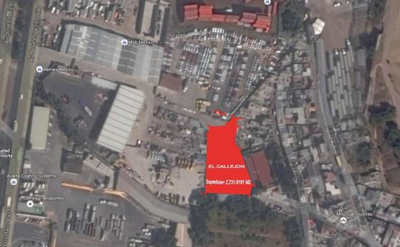 Se Vende Terreno Industrial En San Pedro Barrientos , Tlalnepantla, Bajo De Precio De 28 Millones A
