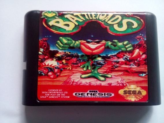 Battletoads Mega Drive Genesis Novo